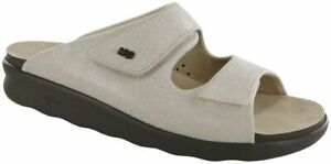 SAS Women's Shoes Cozy Sandal Web Linen Many Sizes & Widths Brand New In Box