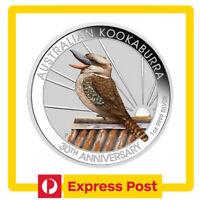 2020 Kookaburra Coloured 1oz .9999 Silver Coin - WMF / Berlin Coin Show Special