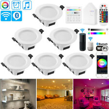 6X 5W 9W Smart WIFI Bluetooth APP RGBWWCW LED Ceiling Lamp Down Light Spotlights