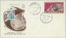 82807 -  FRENCH POLYNESIA - Postal History -  FDC COVER - SPACE Television  1962