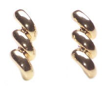 Golden Twister-minimalist Golden Swirl Stud Style Metal Stud Earrings(Zx52/219)