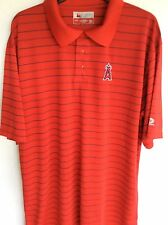MLB Los Angeles Angels Polo Shirt Golf Shirt XXLarge Pin Striped