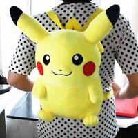 """12"""" Big Size New Pokemon Pikachu Plush Student Backpack Large Stuffed Doll Toy"""