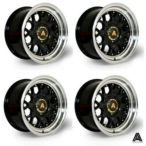 "Autostar Sprint 15"" 8J alloys Mx5 VW POLO GOLF LUPO Eunos CIVIC MR2 4x100"