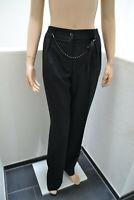 Wolford Tailored Hose Trousers Wool Wolle mit Swarovski Perlenkette