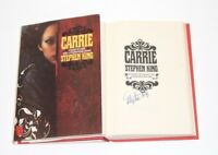 AUTHOR STEPHEN KING SIGNED 'CARRIE' HARDCOVER BOOK w/COA BOOK CLUB EDITION PROOF
