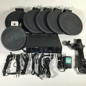 Roland TD-5 Drum Percussion Sound Module PD-7 PD-5 with Cords and Adapter TESTED