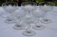 Baccarat - Service de 6 coupes à champagne en cristal, modèle Richelieu, cat1907