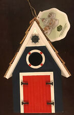 New With Tags Dockside Cabin Birdhouse by Home Bazaar ( Free Shipping )