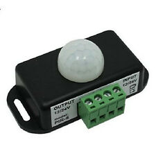 Black Automatic DC 12V-24V 8A Infrared PIR Motion Sensor Schalter For LED light