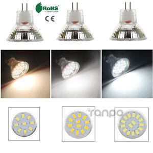 1X 6X LED Spot Light Bulbs MR11 GU4 2W 3W 4W 5733 SMD 12-24V Bright White Lamp