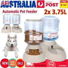 2x3.5l Automatic Pet Feeder Dispenser Dog Cat Auto Food Water Self Feeding Bowl