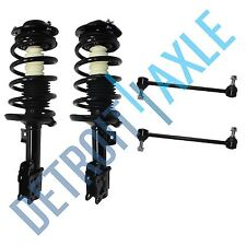 New 4 pc Kit: Front Driver and Passenger Complete Ready Struts + Sway Bar Links
