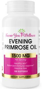 Evening Primrose Oil 1500mg Cold Pressed Fertility Pills Fertile Cervical Mucus