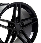 18x9.5 Rims Fit C4 Corvette Camaro C6 Wheels Z06 Style Gloss Black Set Of 4
