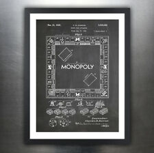 MONOPOLY POSTER Board Game Blackboard US Patent Poster Print 18x24 Art Gift