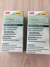2XCVS COMPLETE LICE TREATMENT KIT EFFECTIVE REMOVING LICE & NITS IN ONLY 15 MIN.