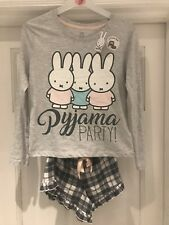 Primark Ladies Miffy Bunny Pyjamas  BNWT Frill Shorts Long Sleeve Top Sizes 4-20