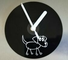 Great gift - stick dog pet cd wall clock office bedroom lounge kitchen 120mm
