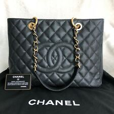 CHANEL Black Caviar GST Grand Shopping Tote Gold hardware
