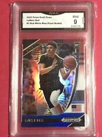 2020-21 PANINI PRIZM DRAFT PICKS #3 LAMELO BALL RC HORNETS ROOKIE (GMA 9) MINT