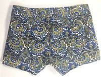 Womens J CREW City Fit Chino Flat Front Stretch Paisley Shorts Size 00