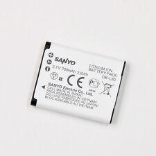 Original Sanyo DB-L80 Battery For VPC-CA100 GH1 GH3 CG20 CG100 VAR-L80 700mAh