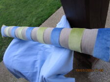 bas de porte XXL, boudin de porte, chic 16/112 cms,deco isolation,lin,bleu,vert