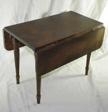 Walnut Child's Antique Primitive Drop leaf Table