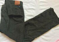 Lucky Brand Mens Pants 36x32 363 Vintage Straight Corduroy Dark Green Pants