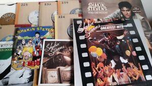 "JOB LOT SHAKIN STEVENS 2X EX VINYL LP GREATEST HITS & THIS OLE HOUSE + 9X 7"" 1EP"
