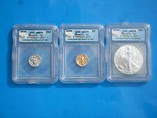 2006 $10 Platinum, $5 Gold & $1 Silver MS70 - ICG Tri-Metal Set #444 OF 487