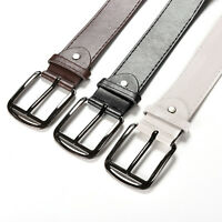 1Pcs Stylish Mens Cozy Metal Buckle Dress Casual PU Leather Belts 3 Colors E .MR