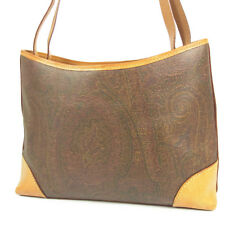 Auth ETRO Paisley Pattern PVC Leather Shoulder Bag F/S 3093