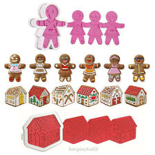 Gingerbread Girls & House Cookie Cutters 2 Sets 12 Designs Templates Christmas