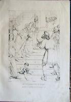 ✅Stampa incisione 1850 LA CONSACRAZIONE DI MARIA - Luino/Botticelli/Lasinio inc.