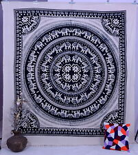 Hippy Elephant Mandala Indian Wall Hanging Bedspread Ethnic Decor Art Tapestries