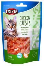 Trixie Cheese Chicken Cubes Cat Treats Gluten Free 50g