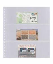 10 Lindner 823P Transparent Pockets 3x 242x90mm+ Black Zwl For Stamp Booklet