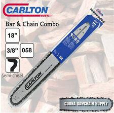"Carlton 18"" 3/8 .058 68DL Bar & Chain Combo fits HUSQVARNA, MAKITA & OTHERS"