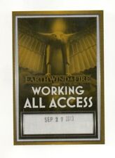 Earth, Wind, & Fire 2013 Tour Working All Access Satin Backstage Pass