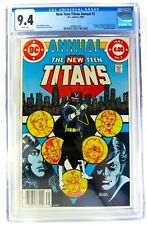 DC NEW TEEN TITANS ANNUAL 1983 #2 CGC 9.4 NEWSSTAND 1st VIGILANTE Peacemaker HBO