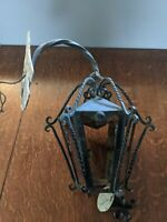 Vintage Wrought Iron and Metal Lamp, Electrical