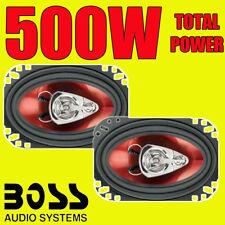 Jefe 3-WAY total 500W 4x6' 4 X 6 Pulgadas Coche Puerta Coaxial altavoces de rango completo de estante