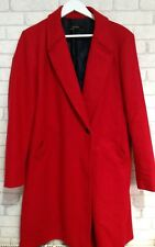Ladies ZARA Red Wool Masculine Coat ,Size XXL ,Fits UK 16