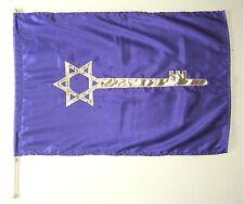 Key of David Flag w Pole - Purple - Christian Worship / Warfare Dance