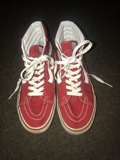 Vans SK8 Hi Red Skate Shoes High Top Sneakers Size Mens 6.5 Women's 8
