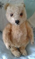 """Antique vintage German Steiff jointed mohair 9"""" collectors teddy bear,"""