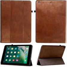 Premium Leder Cover für Apple iPad Mini 4 Tablet Schutzhülle Case Tasche braun