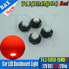 4 X Red T4 Neo Wedge 5050 SMD LED Twist Lock LCD Dash Cluster Switch Gauge VT VX